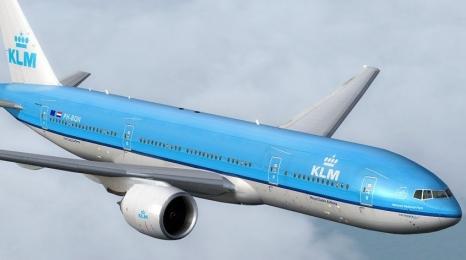 Linie KLM wysłały za ocean samolot...