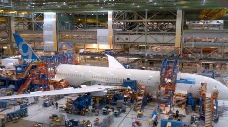 Boeing rozpoczął montaż B787-9
