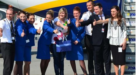 Pół miliona pasażerów bazy Ryanair w KRK