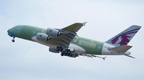 Dziewiczy rejs A380 Qatar Airways
