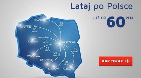 Bilety krajowe LOTu już za 60 zł!