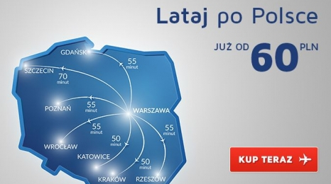 Krajówki od 60 zł! 5 dni promocji LOTu