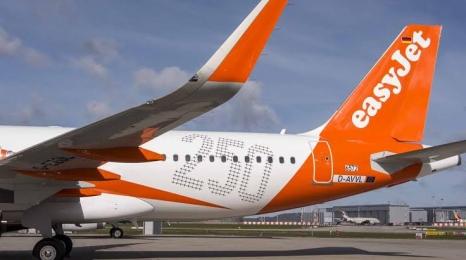easyJet odebrał 250. Airbusa