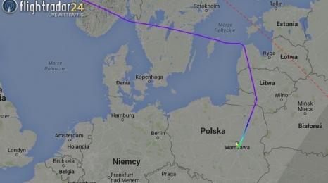 Airbus A380 Emirates w Warszawie