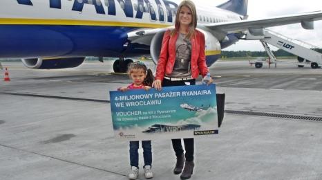 Ryanair: 4 mln pasażerów we Wrocławiu